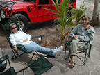 Pam and Coleen resting up at Baja Outpost for another whale visit