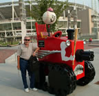Chris with the Big Red Machine in Cincinnatti.