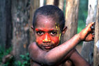 Huli kid with face paint