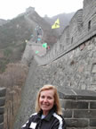 Pam at the Great Wall